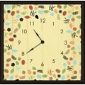 Green Leaf Art Floral and Leaves 20'' Art Wall Clock