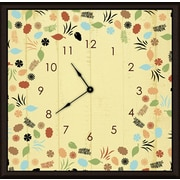 Green Leaf Art Floral and Leaves 16'' Art Wall Clock