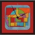 Green Leaf Art Abstract 16'' Art Wall Clock