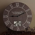Forest Creations 22'' Don't Dream Your Life, Live Your Dreams Wall Clock; Dark Chocolate
