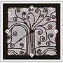 Green Leaf Art Abstract 16'' Tree Art Wall