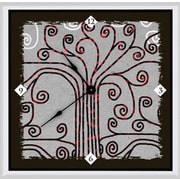 Green Leaf Art Abstract 20'' Tree Art Wall Clock