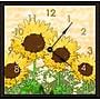 Green Leaf Art Sunflowers 11'' Art Wall Clock