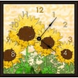 Green Leaf Art Sunflowers 16'' Art Wall Clock