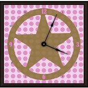 Green Leaf Art Lone Star 20'' Girl Art Wall Clock