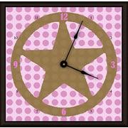 Green Leaf Art Lone Star 11'' Art Wall Clock; Pink