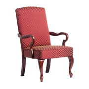 Comfort Pointe Derby Fabric Arm Chair; Red