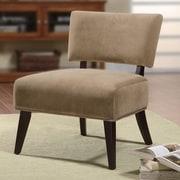 Wildon Home   Oversized Fabric Slipper Chair; Tan