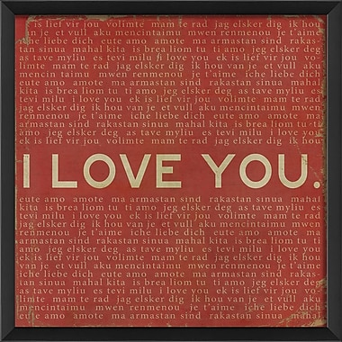 The Artwork Factory I Love You Framed Textual Art; Red