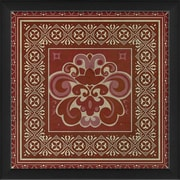 The Artwork Factory Tile 4 Framed Graphic Art; Red
