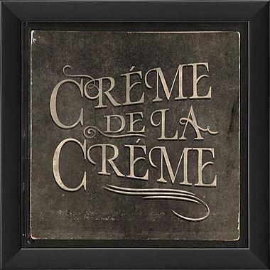 The Artwork Factory French Phrases Creme De La Creme Framed Textual Art