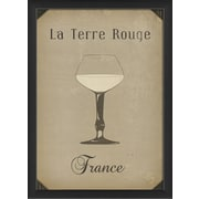 The Artwork Factory European Drinks La Terre Rouge Framed Vintage Advertisement