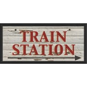 The Artwork Factory Train Station Right Framed Textual Art