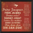 Blueprint Artwork Frere Jacques Framed Textual Art; Red