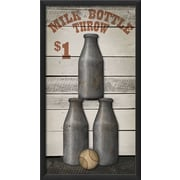 The Artwork Factory Circus Posters Milk Bottle Throw Framed Graphic Art