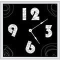 Green Leaf Art Lines 11'' Art Wall Clock