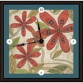 Green Leaf Art Florals 16'' Art Wall Clock