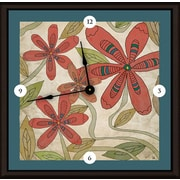 Green Leaf Art Florals 20'' Art Wall Clock