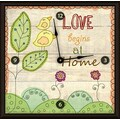Green Leaf Art Love at Home 16'' Art Wall Clock
