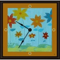 Green Leaf Art Floral Family 11'' Art Wall Clock