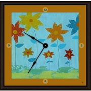 Green Leaf Art Floral Family 20'' Art Wall Clock