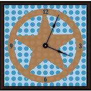 Green Leaf Art Lone Star 11'' Art Wall Clock; Blue