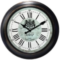Ashton Sutton Decorative Home 18'' Classic Chevron Wall Clock
