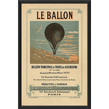 The Artwork Factory Le Ballon Framed Vintage Advertisement