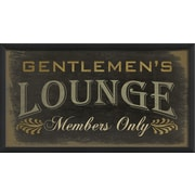 The Artwork Factory Gentlemens Lounge Members Framed Textual Art