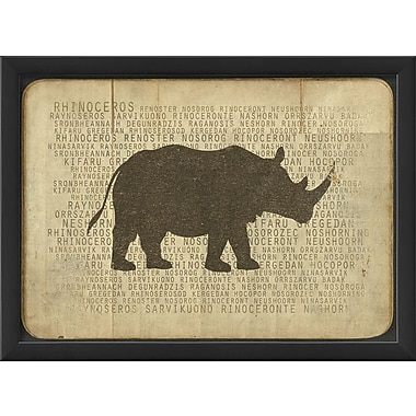 The Artwork Factory Rhino Silhouette Framed Graphic Art