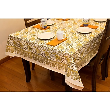 Sustainable Threads Sunshine Tablecloth; 58'' W x 88'' L