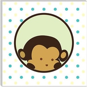 iCanvas Kids Children Monkey Face Spots Canvas Wall Art; 12'' H x 12'' W x 0.75'' D