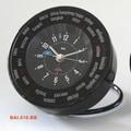 Bai Design Auto-Align World Trotter Travel Alarm Clock; Black