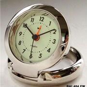 Bai Design Diecast Travel Alarm Clock; Futura White Niteglow
