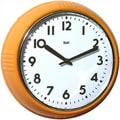 Bai Design 8.3'' Too Cool for School Retro Modern Wall Clock; Orange