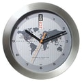 Bai Design 11'' GMT Wall Clock with World Map
