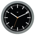Bai Design 6'' Studio Modern Wall Clock; Railroad Black