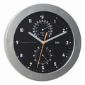 Bai Design 9.75'' Designer Weather Station Wall Clock; Black