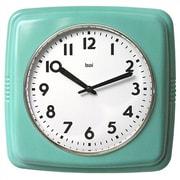 Bai Design Cubist Retro Modern Wall Clock; Turquoise