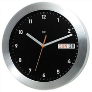 Bai Design 11'' Datist Modern Wall Clock; Black