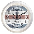 Ashton Sutton Decorative Home 18'' Nautical Anchor Wall Clock