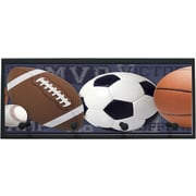 Illumalite Designs Mixed Sports Balls Wall Graphic Art on Plaque with Pegs; Black