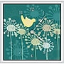 Green Leaf Art Birds and Flowers 20'' Art