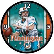 Wincraft NFL 12.75'' Wall Clock; Miami Dolphins - Chad Pennington