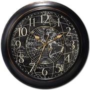 Ashton Sutton Decorative Home 18'' World Map Wall Clock