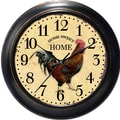 Ashton Sutton Decorative Home 18'' Classic Rooster Wall Clock