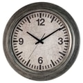 Ashton Sutton Classic Home 22'' Galvanized Wall Clock