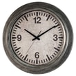 Ashton Sutton Classic Home 22'' Galvanized Wall Clock
