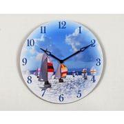 Ashton Sutton 16'' Sail Boat Wall Clock