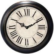 Ashton Sutton Decorative Home 18'' Classic Roman Numeral Wall Clock